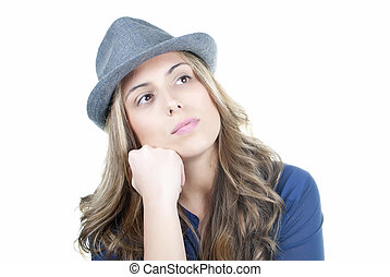 Attractive pensive woman