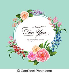 attractive peony card template design in watercolor style