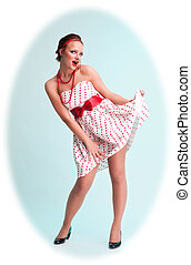 Attractive pinup woman