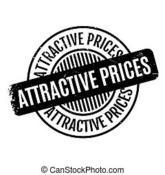 Attractive Prices rubber stamp. Grunge design with dust...
