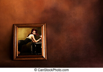 woman in frame