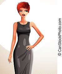 Attractive red-haired woman