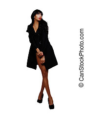 Skinny Black Woman Standing