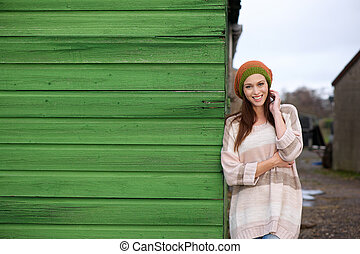 Attractive Smiling Woman Outdoor