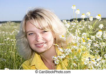 attractive smiling woman portrait