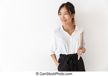 Attractive smiling young asian woman