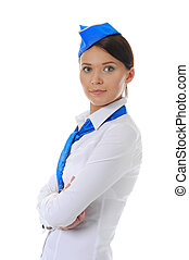 Attractive stewardess