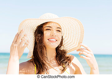 Attractive summer woman portrait.