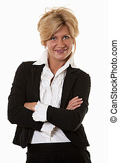 Attractive thirties caucasian confident businesswoman...