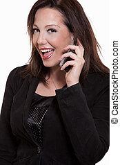 Attractive twenties caucasian brunette woman