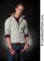 Attractive twenties caucasian man
