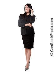 Attractive twenties hispanic businesswoman