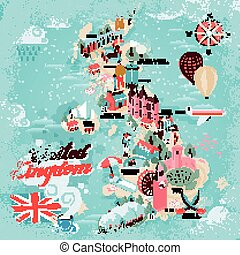 United Kingdom travel map