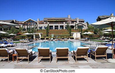Attractive upscale pool and deck