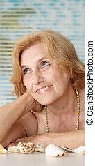 Attractive woman at a resort