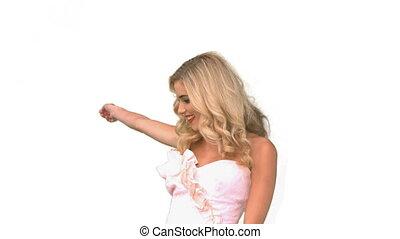 Attractive woman dancing in wedding