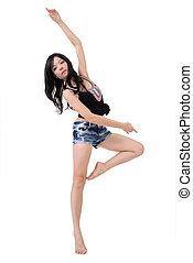modern ballet - Attractive woman dancing modern ballet...
