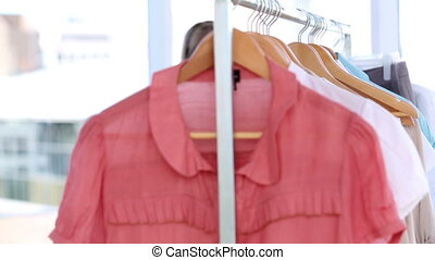 Attractive woman doing shopping in