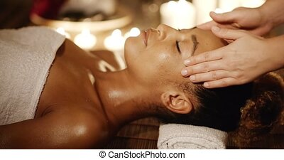 Attractive Woman Getting Spa Treatment - Young attractive...
