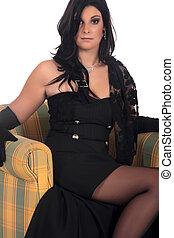 Attractive Woman Glamour sofa