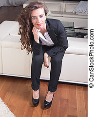 attractive woman in business outfit