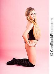 Attractive woman in corset