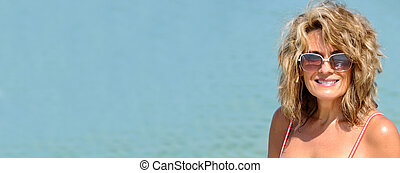 Attractive Woman in Swimsuit
