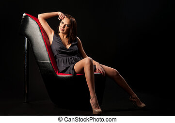 woman in the chair