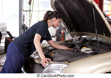 Attractive Woman Mechanic - An attractive woman mechanic...