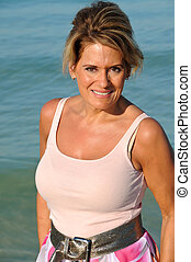 Attractive Woman - Attractive Mature Woman Enjoying Early...