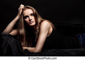 attractive woman - Fashion shot of an attractive young woman...