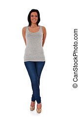 Attractive woman - Full length shot of an attractive young...