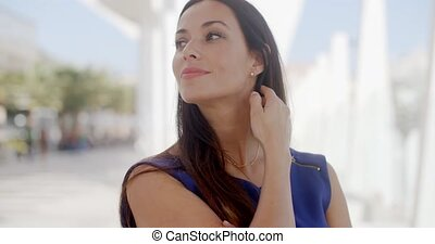 Attractive woman with a lovely smile - Attractive friendly...