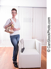 attractive Woman with bag