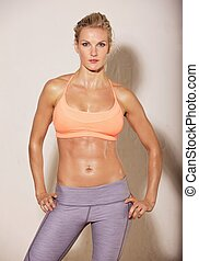 Attractive Woman with Fit Body - Attractive woman at the gym...