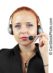 Attractive woman with headphone