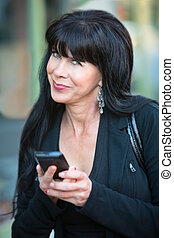 Attractive Woman with Mobile Phone