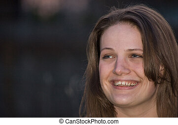 Attractive Woman Woman Smiling