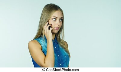 Attractive women bring a gift, she says on the phone