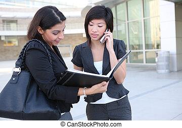 Attractive Women Business Team