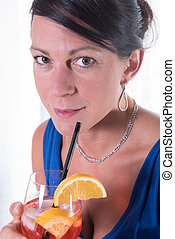 attractive women having a drink