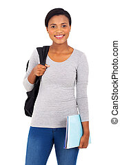 young african american university student
