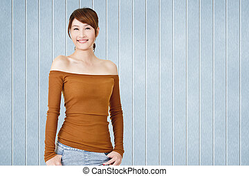 Attractive young Asian woman