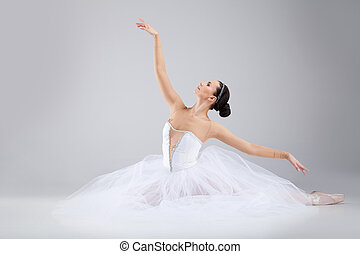 attractive young ballet dancer acting out. beautiful...