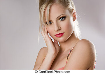Attractive young blond woman.
