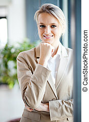 attractive young businesswoman portrait