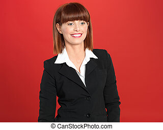 attractive, young businesswoman , smiling