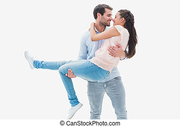 Attractive young couple having fun