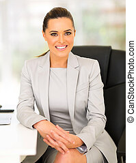 young entrepreneur sitting in office