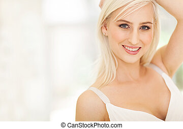 attractive young European woman